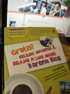 Gratis! Keliling Indonesia & Belajar di LN karena Blog – Nonadita