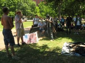 Demo di dekat White House
