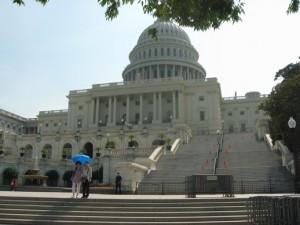 Sisi barat US Capitol