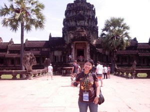 In front of Angkor Wat entrance