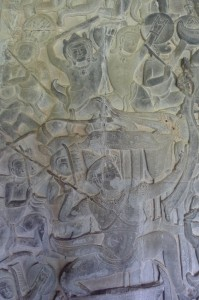 Battle Scene on the Wall Relief