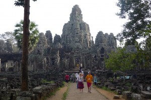 Bayon temple entrance. See those faces?