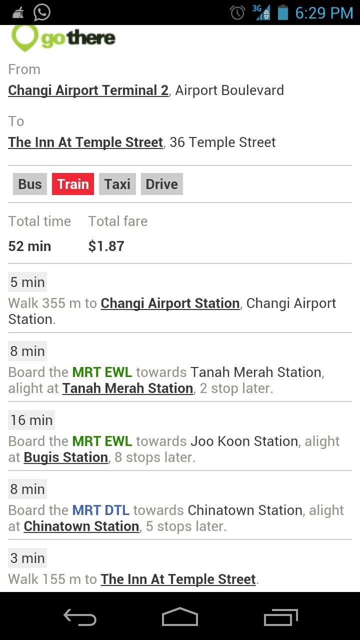 Aplikasi Rute Transportasi Umum di Singapore