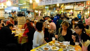 Food court at Shilin Night Market