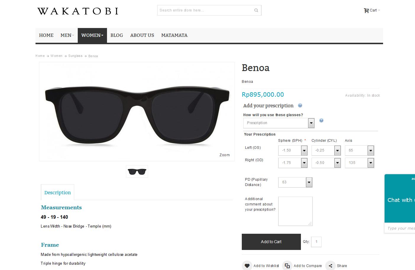 Pesan Online di Wakatobi Eyewear