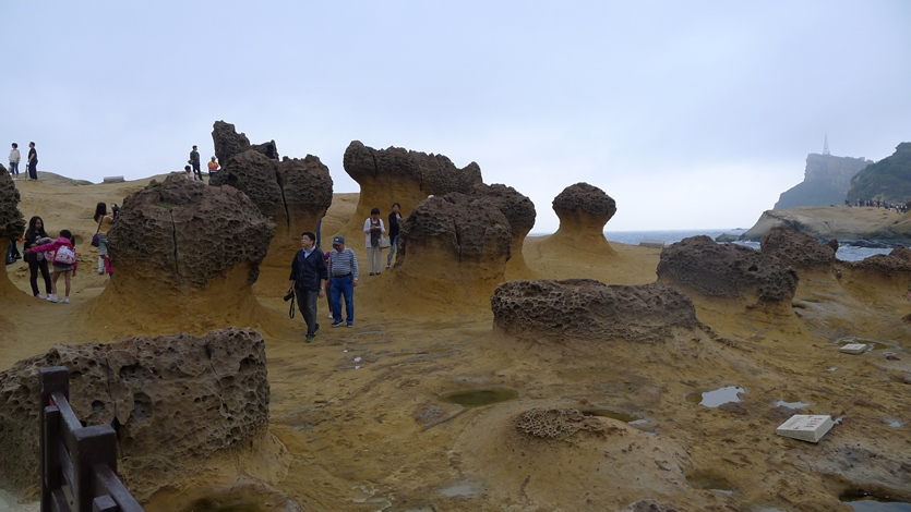 Amazing Rock Formation at Yehliu Geopark